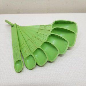 Tupperware Apple Green Measuring Spoons MCM Decor